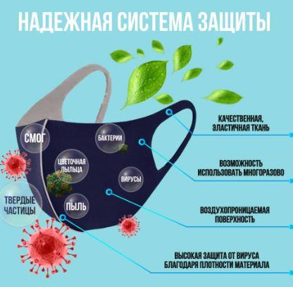 многоразовые мед маски купить в москве