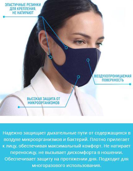 Как заказать маска респиратор время использования